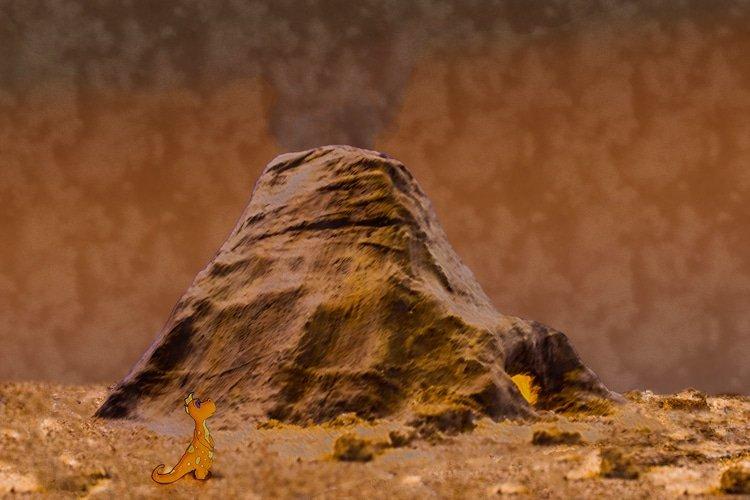 "Drasu vor dem ""großen rauchendem Berg"""